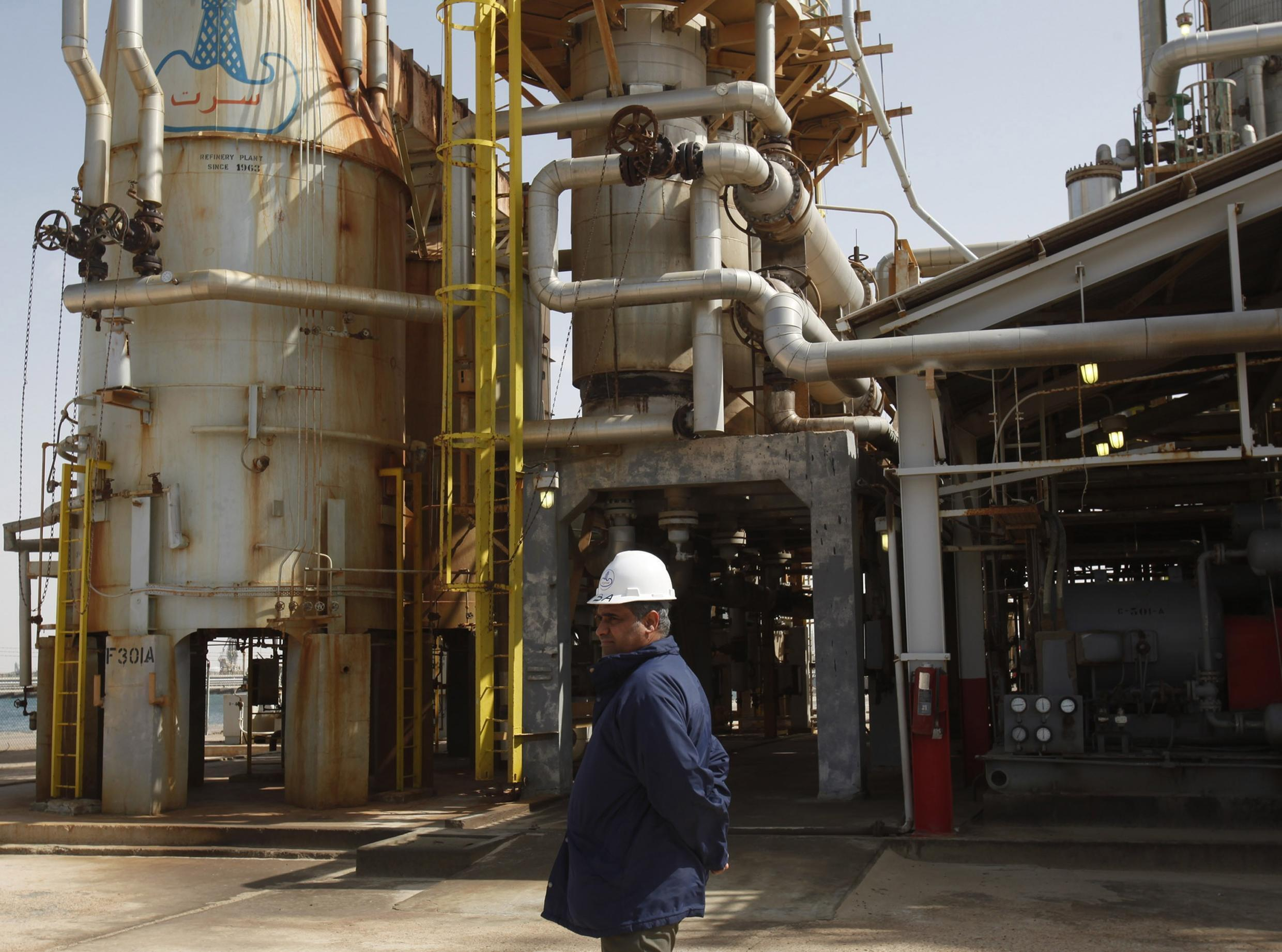 The oil terminal of Brega, which is under rebel control, 300 kilometres from Benghazi, 27 February 2011