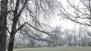 As temperaturas chegaram a abaixo de zero neste fim de semana na França