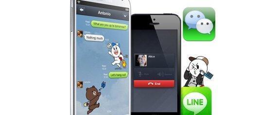 WeChat et Line comptent bien entrer dans le club fermé des grands réseaux sociaux de la planète