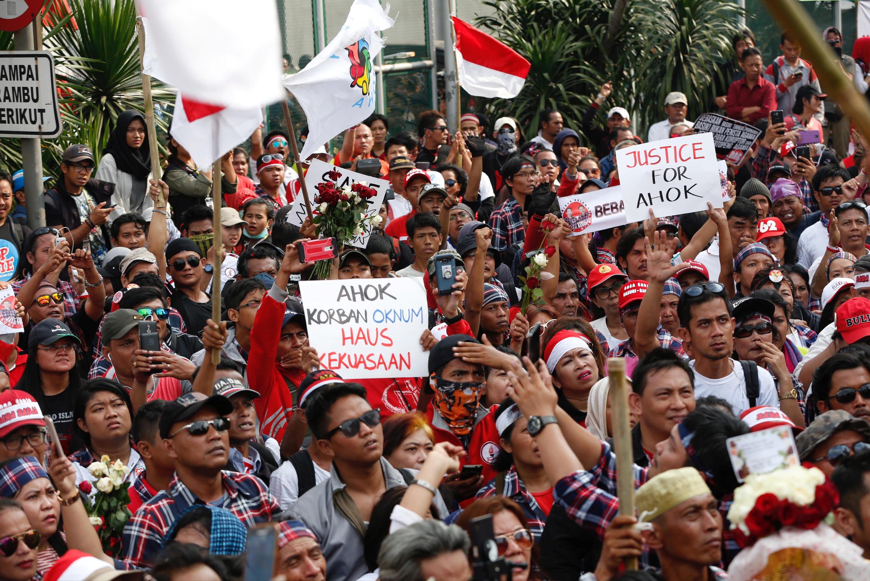 Wasu daga cikin  mutanen Indonesia da ke zanga-zangar adawa da matakin Trump na ayyana Kudus a matsayi babban birnin Isra'ila