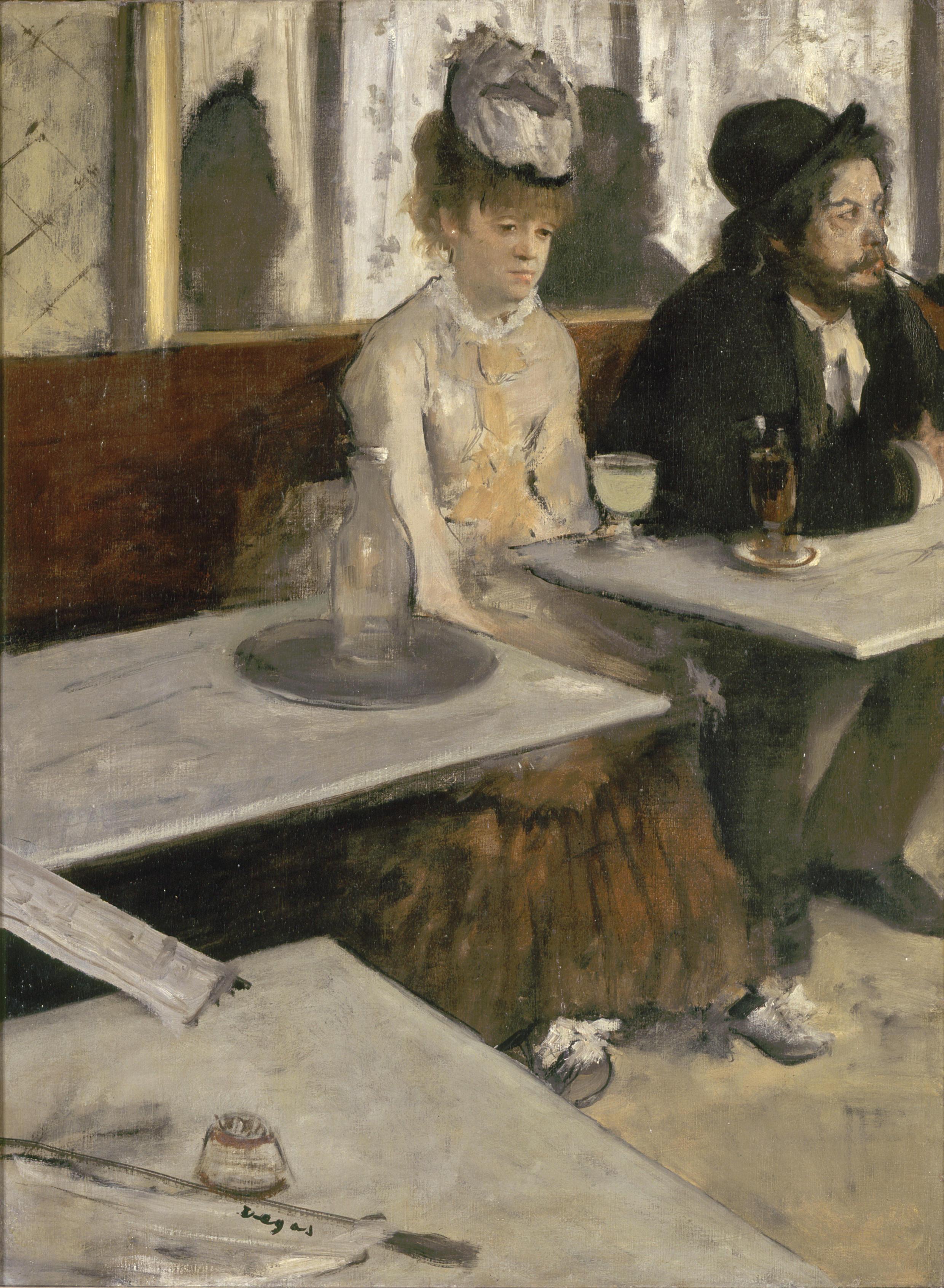 """""""O Absinto"""", de Degas."""