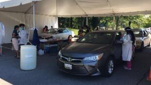 Tests de dépistage organisés par la municipalité de Hyattsville.