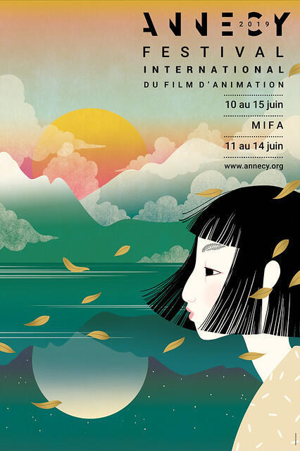 O cartaz oficial do Festival de Annecy 2019.