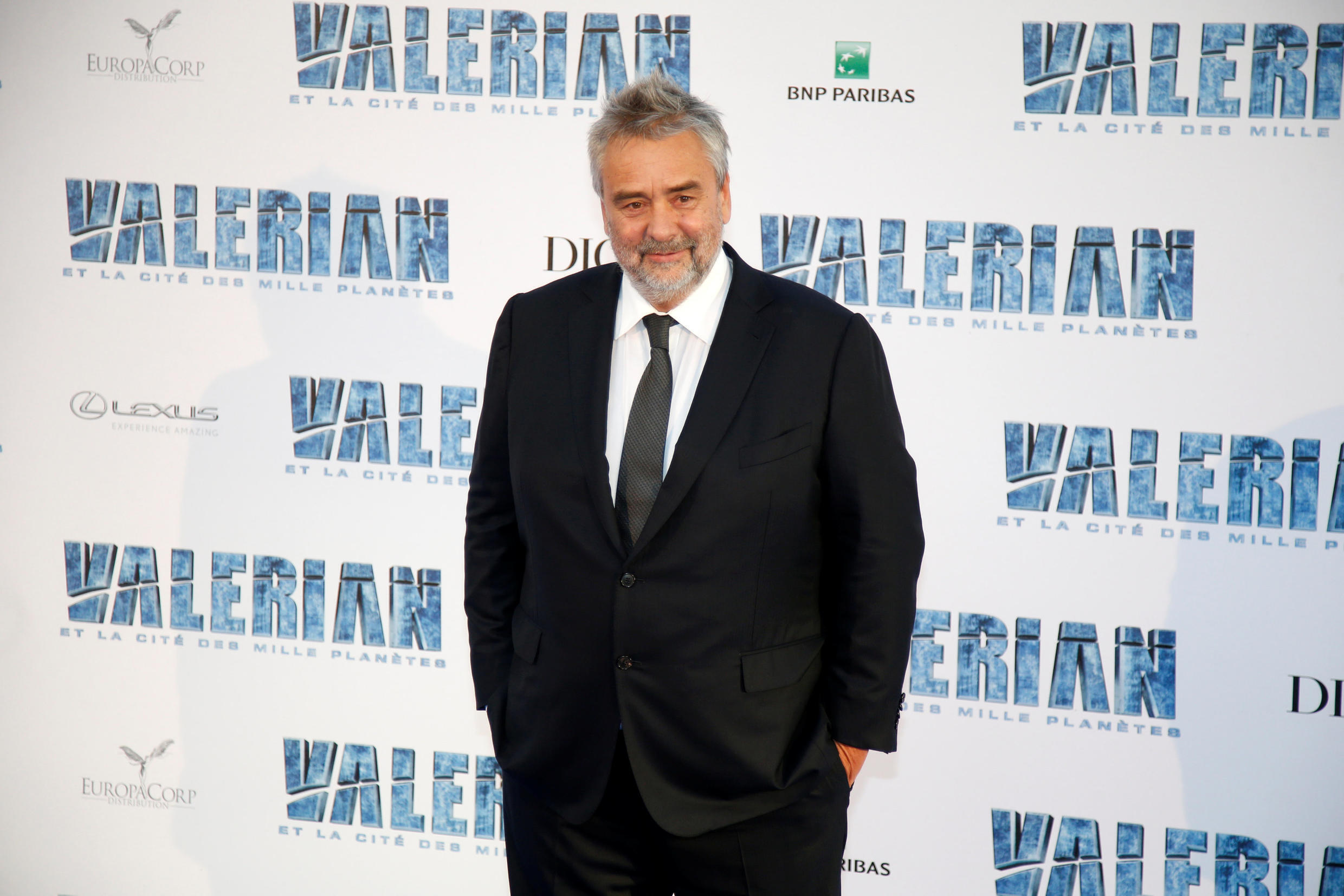 """French director Luc Besson at the premiere of his flop, """"Valerian"""""""