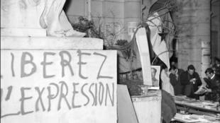 Universidad de la Sorbona, en París. 20 de mayo de 1968.