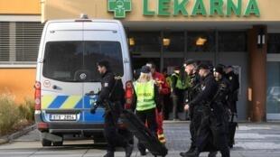 Un homme a tué par balles six personnes mardi matin dans un hôpital tchèque avant de prendre la fuite et de se suicider,  mardi 10 décembre 2019.