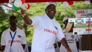 Le général Evariste Ndayishimiye, candidat du CNDD-FDD, vainqueur de l'élection présidentielle de 2020 au Burundi.