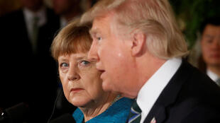 Angela Merkel e Donald Trump em Washington