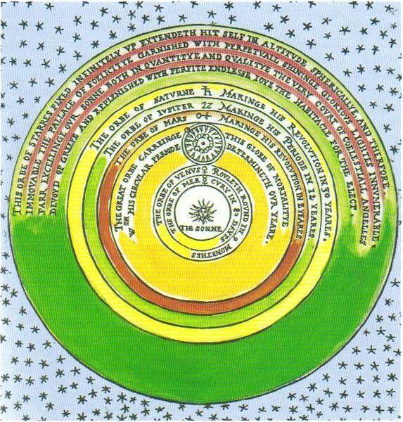 Bản đồ bầu trời sao của Thomas Digges (1546-1595), nhà toán học và thiên văn học Anh. Một trong những người đầu tiên hình dung ra bầu trời vô tận.