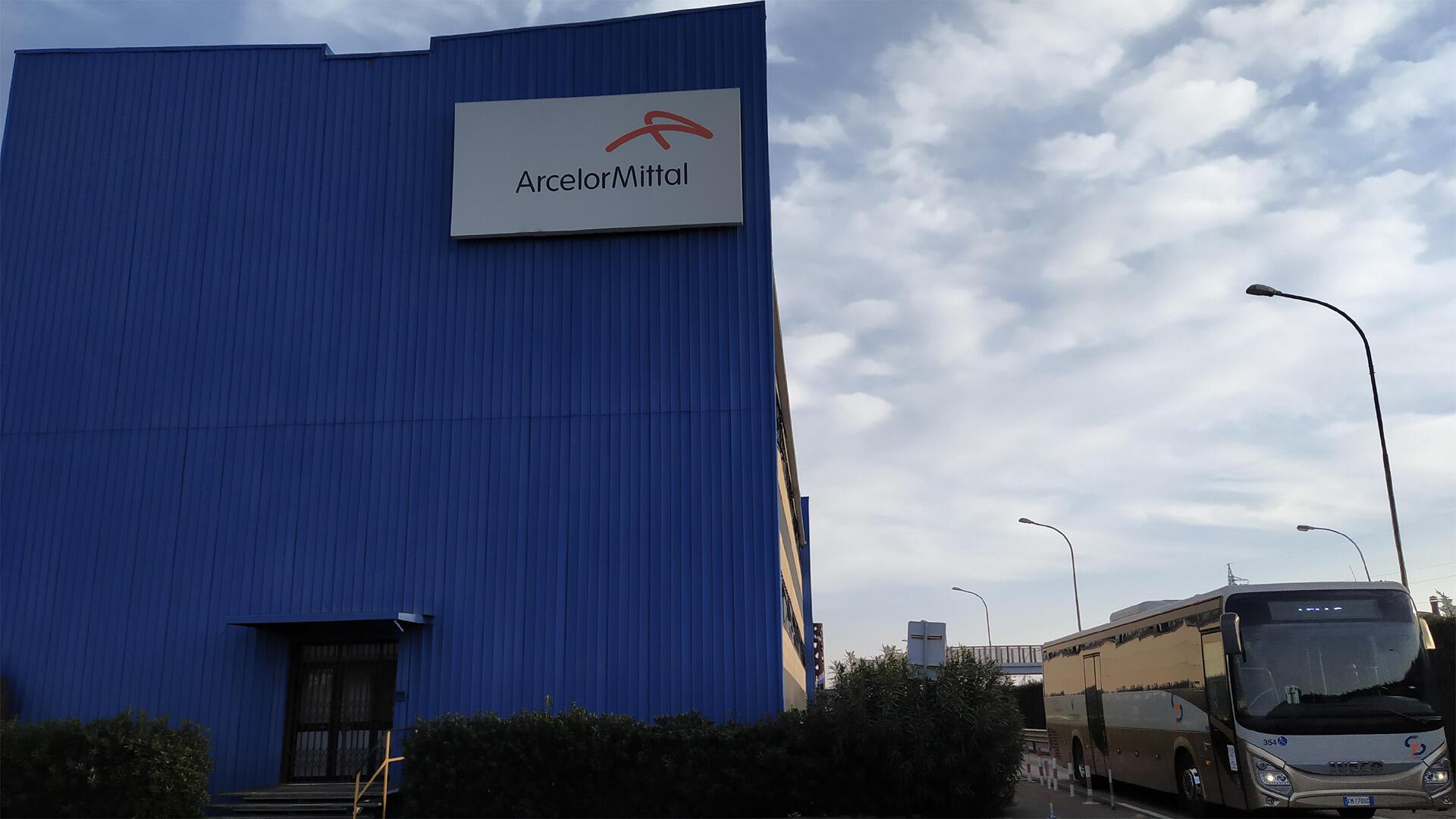 Le site d'ArcelorMittal, à Tarente.
