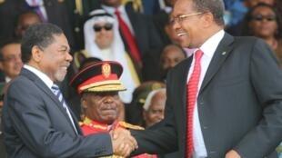 Rais wa serikali ya Mapinduzi ya Zanzibar, Dr Ali Mohamed Shein wakati wa maadhimisho ya miaka 50 ya Muungano