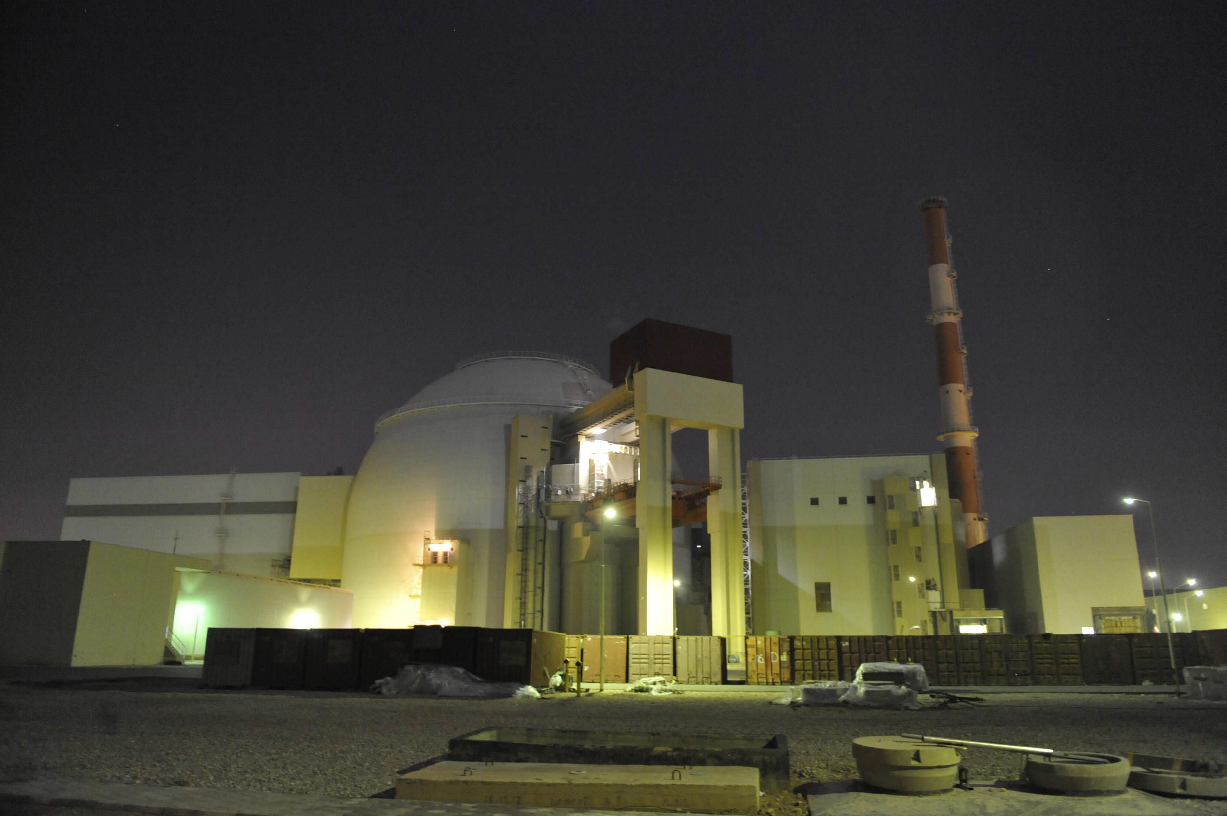 In this photo released by the semi-official Iranian Students News Agency (ISNA), the reactor building of Iran's Bushehr Nuclear Power Plant is seen, just outside the port city of Bushehr 1245 kilometers south of the capital Tehran.