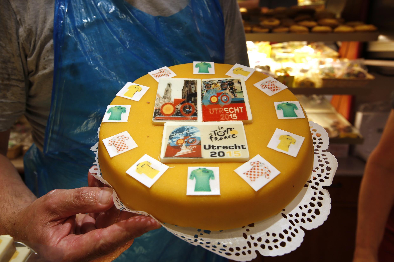 Au Pays-Bas, la ville d'Utrecht est en fête. Ici, un gâteau créé par un chocolatier néerlandais.
