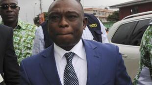 Bertin Konan Kouadio, membre du Parti démocratique de Côte d'Ivoire (PDCI), à Abidjan, en octobre 2013.