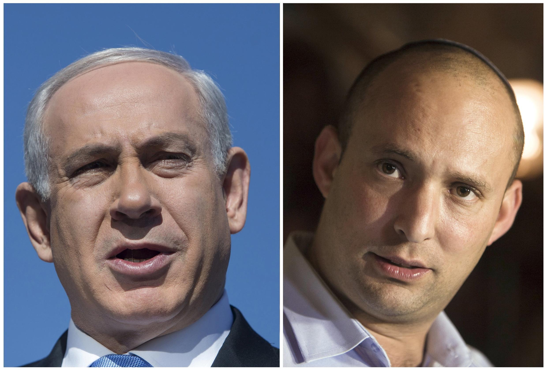 بنیامین نتانیاهو و نفتالی بنت.