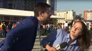 La reportera Julia Guimarães fue molestada por un hombre en la calle antes del partido Japón-Senegal