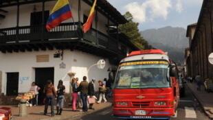 Bogota (Colombie), au coin de la place Bolivar.