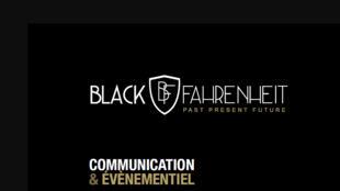 Le logo de l'agence de communication Black Fahrenheit.
