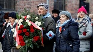 Những nạn nhân Do Thái còn sống sót ở trại Auschwitz trong lễ kỉ niệm 75 năm ngày giải phóng trại, ngày 27/01/2020.