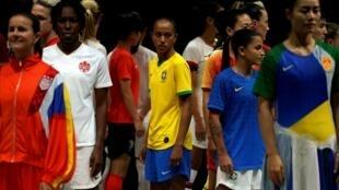 Présentation officielle des maillots des équipes pour le Mondial féminin 2019 en France.