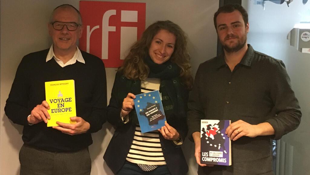 De g. à dr. : François Reynaert, Ariane Forgues, Maxime Calligaro.