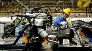 Xưởng lắp ráp xe ô tô tại Thanh Đảo, Sơn Đông, Trung Quốc