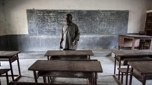 Cécé Kpoghomore, le directeur de l'école de Meliandou en Guinée, le 25 janvier 2015. (Photo d'illustration).