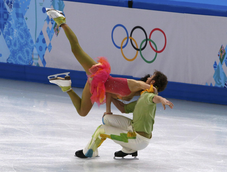 Танцевальная пара Натали Пешала-Фабиан Бурза в Сочи 17 февраля 2014