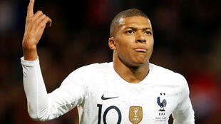 Kylian Mbappé, who scored four times for PSG against Lyon on 7 October, netted for France in their 2-2 draw with Iceland.