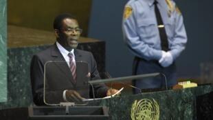 Teodoro Obiang Nguema Mbasogo, le président de la Guinée équatoriale ici à l'ONU en 2009, pourrait donner son nom à un prix scientifique remis par l'UNESCO.