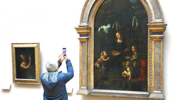 "Hai bức kiệt tác ""Saint Jean-Baptiste"" và "" La Vierge aux rochers"" của Léonard de Vinci"