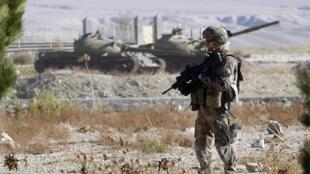 Un soldat français à Mahmoud-é-Râqi, dans la province de la Kapisa, le 18 novembre 2012.