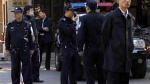每到敏感日子中國警方如臨大敵