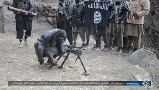 یک گروه از اعضای داعش در افغانستان