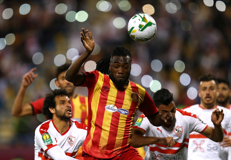 Lors du match Espérance Tunis - Zamalek (1-3), en Super Coupe d'Afrique.