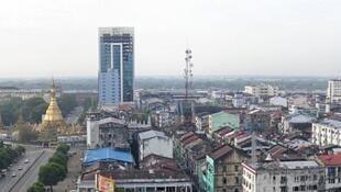 Vue de Rangoun, capitale économique de la Birmanie.