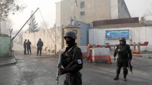 遭到襲擊的阿富汗政府綜合辦公樓2018年12月25日喀布爾