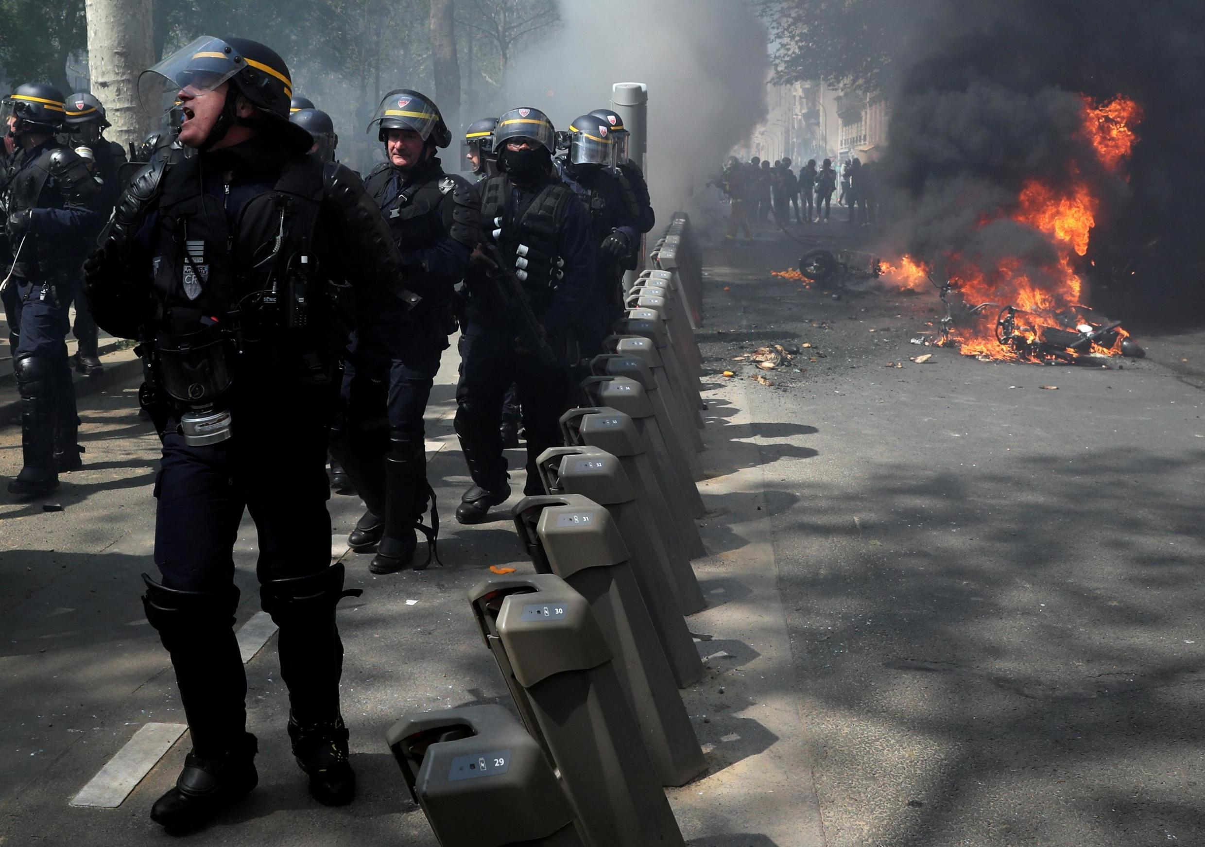 Thousands of French police are expected to be deployed to ensure security at annual May Day demonstrations in Paris.