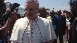 Le nonce apostolique, Monseigneur Montemayor, en visite à Beni, en août 2016.