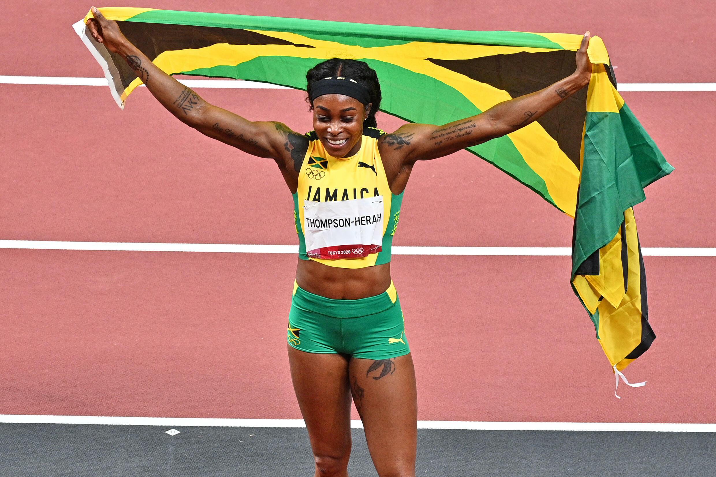 Elaine Thompson-Herah sacrée sur 200 m aux Jeux de Tokyo, le 3 août 2021