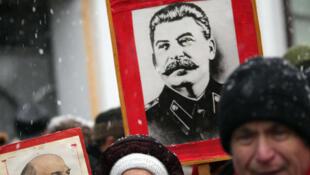 Manifestation du 23 février 2017 du Parti Communiste russe à Moscou.