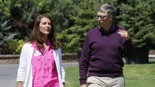 Bill Gates et sa femme Melinda, présidents de la fondation Gates.