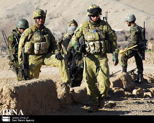 Forças da Otan patrulham o sul do Afeganistão.