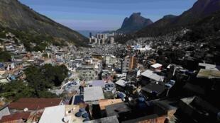 La favela de Rocinha à Rio de Janeiro.