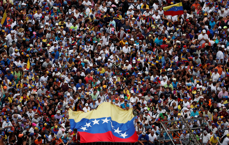 Biểu tình chống chính quyền Nicolas Maduro tại Caracas ngày 23/01/2019.