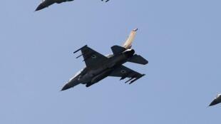 Chasseurs F-16 israéliens. Des raids aériens ont visés des installations syriennes dans la région de Misyaf (photo d'illustration).