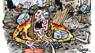 Charlie Hebdo responde à críticas com desenho.