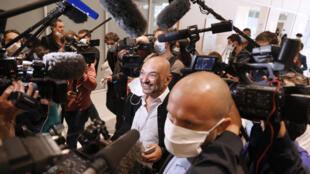 Richard Malka, avocat de Charlie Hebdo, le 2 septembre 2020 au tribunal de Paris.