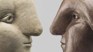 L'affiche de l'exposition <i>Picasso. Sculptures, </i> qui se tient jusqu'au 28&nbsp;août&nbsp;2016 au&nbsp;musée Picasso à&nbsp;Paris, puis au Bozart à&nbsp;Bruxelles, en&nbsp;Belgique.