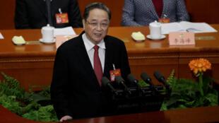 2017年3月3日全国政协主席俞正声在政协年会开幕式上讲话。